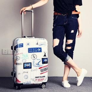 万向轮铝框拉杆箱男行李箱女学生个性旅行箱包密码箱子20寸24寸潮