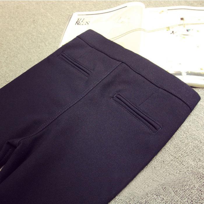秋款外穿黑色打底裤 韩国魔术裤小脚裤女薄款 九分紧身裤铅笔长裤 - 打底裤