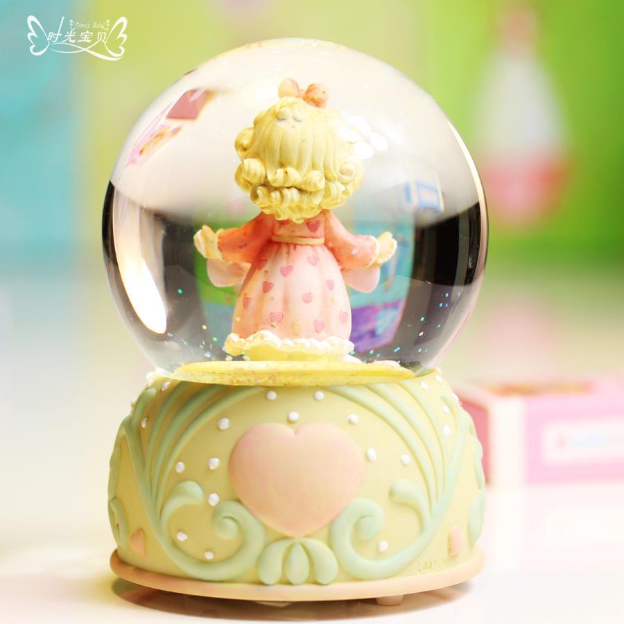 水晶球爱心音乐盒八音盒送女孩闺蜜儿童生日结婚儿童节礼物礼品