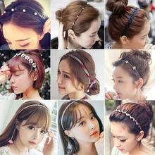 韩国复古风发饰发带流行头饰品珍珠蝴蝶结发箍头箍发卡花环小饰品