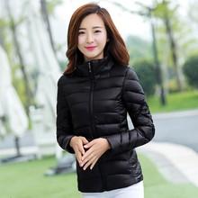 羽绒棉服大码 棉袄女装 修身 轻薄短款 天天特价 立领棉衣外套 新款 韩版图片