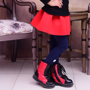 2016春秋新款半身裙女童秋冬款红色蓬蓬少女太空棉黑色超短裙子潮