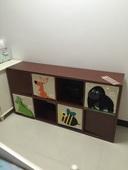 正方形格子柜置物架简约书架储物收纳架花架层架货架角柜田字格柜