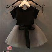 童装女童夏装套裙新款套装韩版儿童童裙半身裙潮公主网纱裙两件套