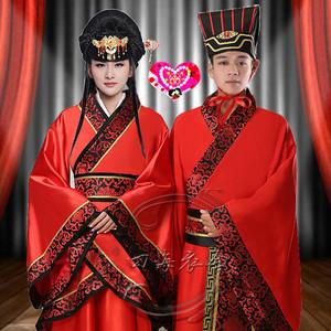 古代古装红色新娘新郎中式结婚喜服婚礼服装汉服唐朝汉朝婚服男女
