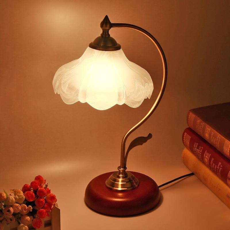 欧式台灯卧室床头可调光现代简约复古触摸创意时尚婚
