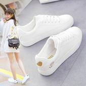 2017夏秋季新款小白鞋女百搭韩版学生白鞋子女平底板鞋运动休闲鞋