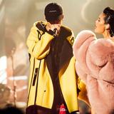 中国有嘻哈PG ONE同款 黄色外套红花会背后激动拼接大衣男连帽
