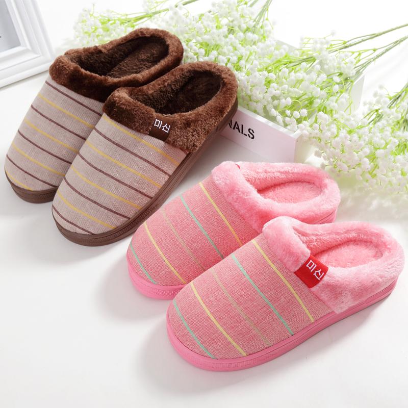 冬季棉拖鞋男女室内情侣居家月子棉拖半包跟厚底可爱