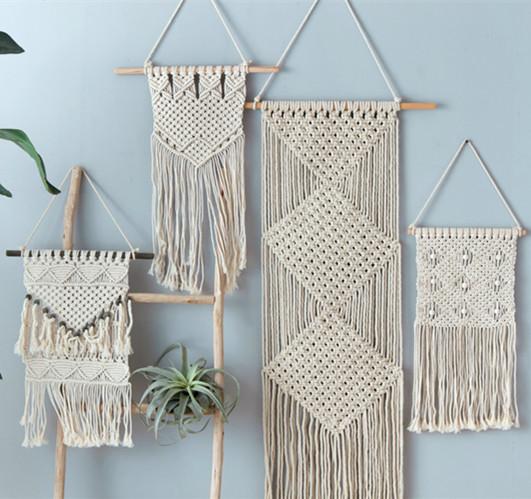 念念不忘。北欧风手工编织挂毯壁挂画波西米亚美式墙饰配电箱装饰