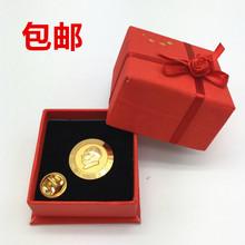 毛泽东像章徽章纪念章 毛主席头像胸针胸章文革收藏品镀24K金勋章