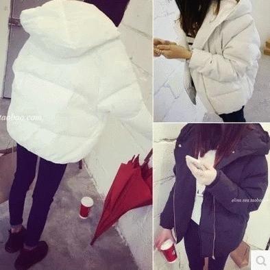 冬季韩版学生纯色短款修身显瘦冬衣小棉袄棉衣学院风女棉服外套潮