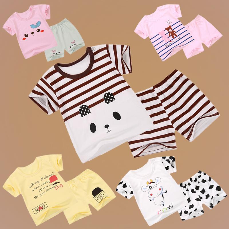 童装男童夏季纯棉套装短袖婴儿宝宝周岁衣服儿童夏装
