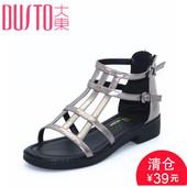 凉鞋 DW17X1462A 女鞋 大东2016夏季新款 低跟方跟露趾时尚 韩版 DUSTO