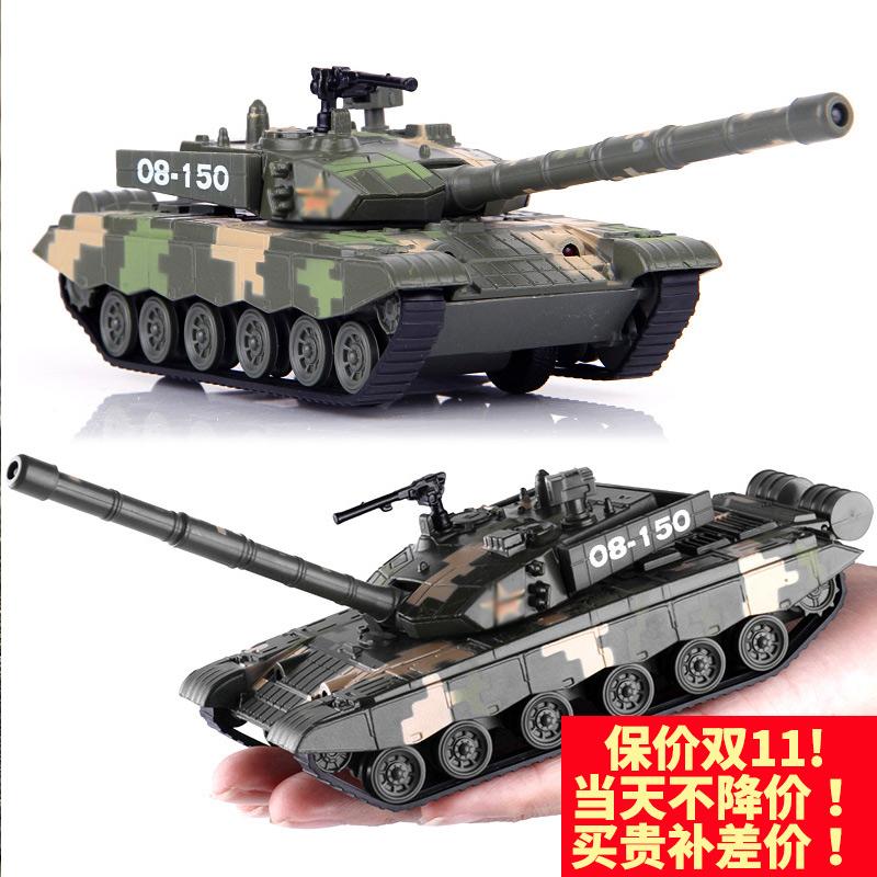中国T99式主战坦克合金属军事仿真模型声光回力儿童玩具装甲车男
