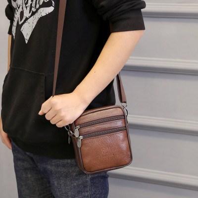 新款单肩包纯皮斜挎包潮流单背包男女包包零钱手