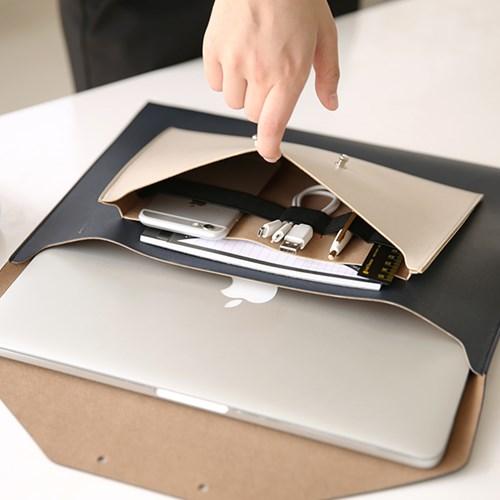 韩国Funnymade皮革公文包 苹果13寸pro笔记本电脑包 男女商务收纳