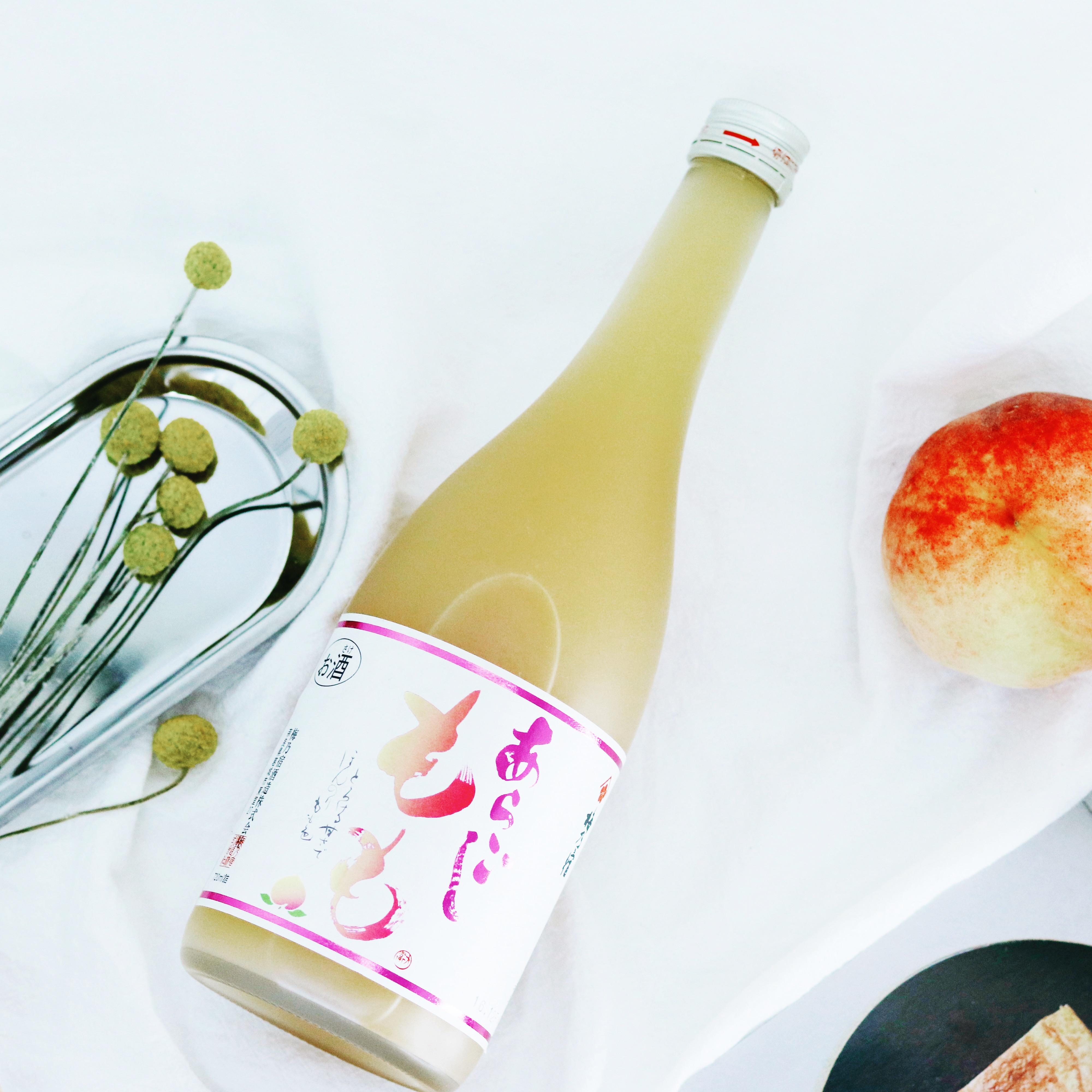 720ml ;女士酸甜可口 deg & 8 日本进口果肉利口酒果酒 桃子酒 梅乃宿