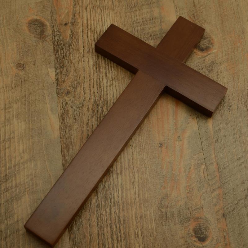 越单纯越真诚30.5CM高壁挂基督教橡木十字架雅歌礼品
