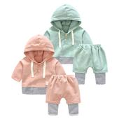 女婴儿套装春秋款男宝宝休闲衣服秋季6个月新生儿长袖两件套1岁