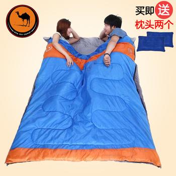 骆驼双人睡袋成人 户外超轻便携