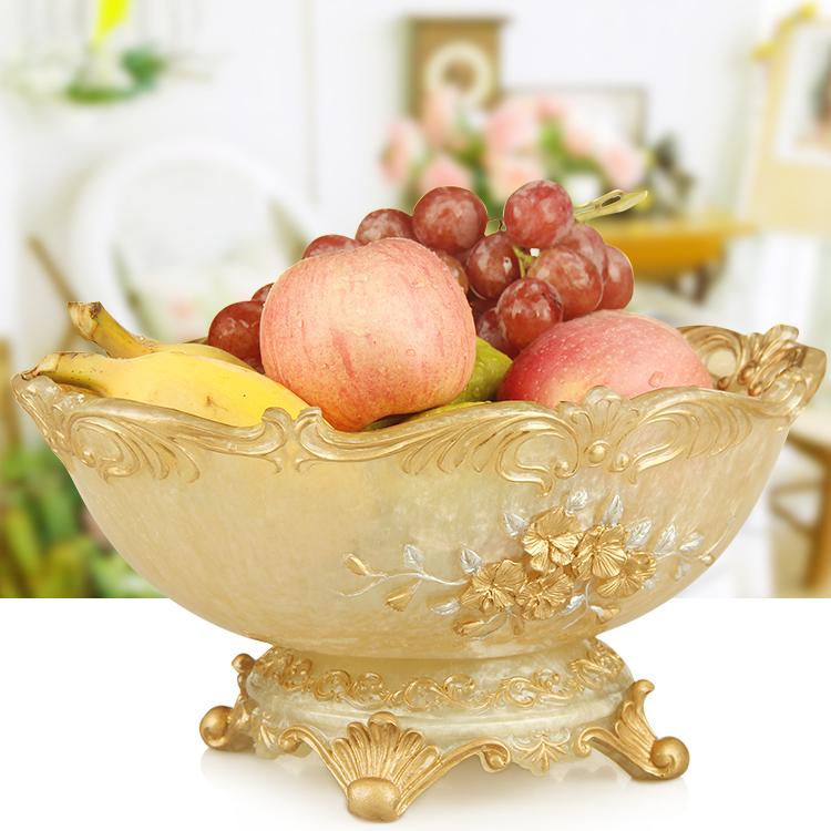欧式果盘创意客厅奢华水果盘家用现代简约茶几干果盘时尚收纳摆件
