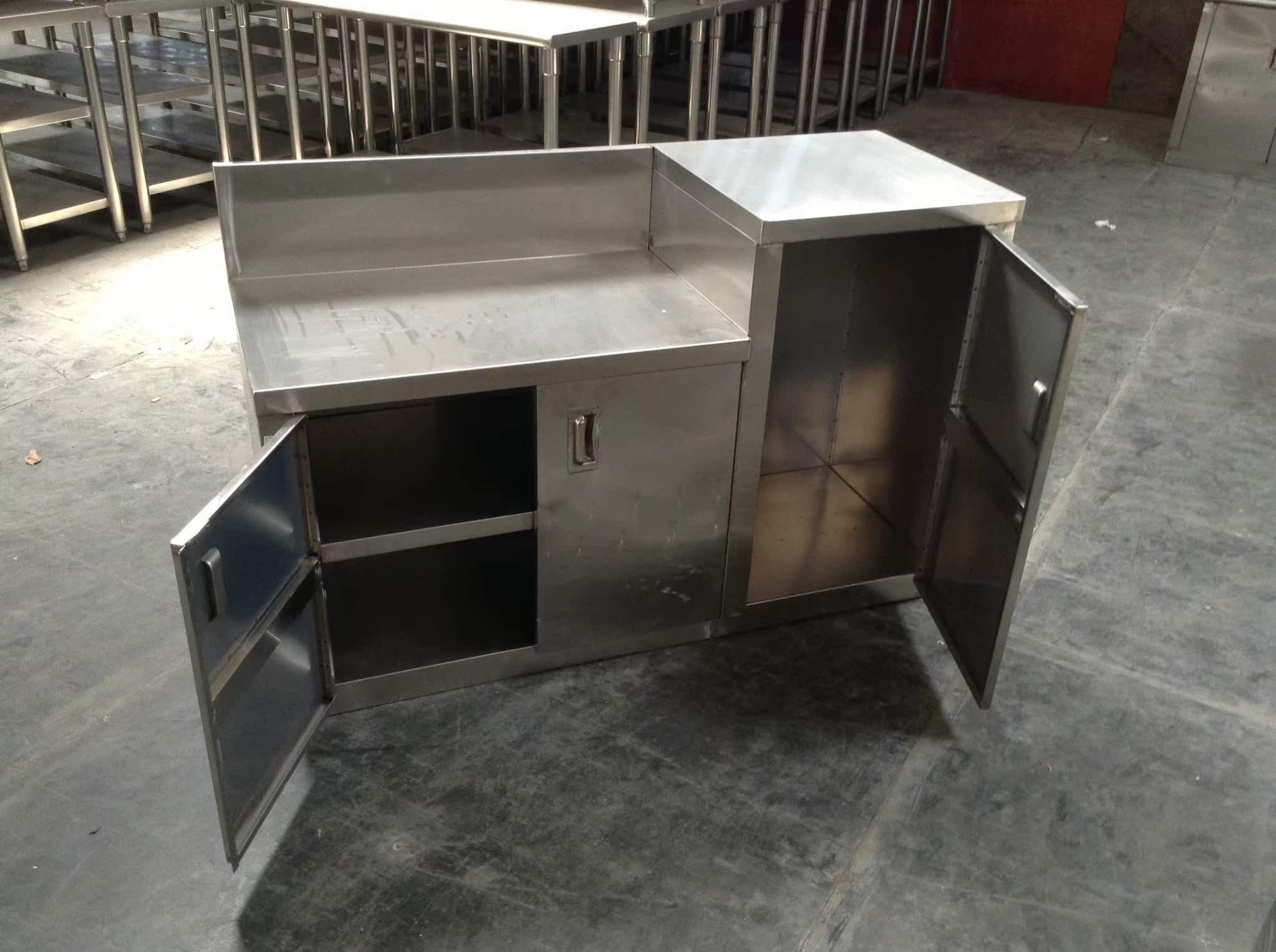 厂家煤气灶柜不锈钢橱柜不锈钢厨柜阳台柜灶台柜子餐边柜简易橱柜图片