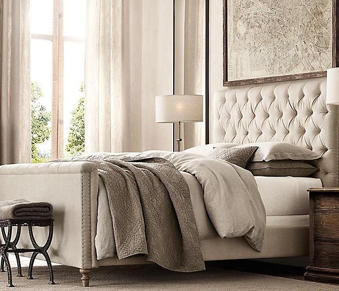 欧式布艺床拉扣床软包床公主床双人沙发床田园风格婚
