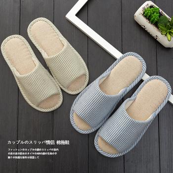 日式春秋棉拖鞋女居家情侣室内木