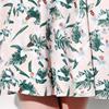 duoyi朵以 2015夏装专柜款 印花腰部镂空百褶连衣裙 30YX81529