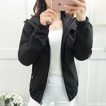 2017秋季新款加肥加大码长袖连帽女外套200斤胖MM胖人短款外搭潮