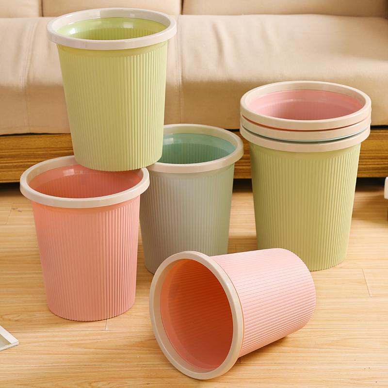 大号垃圾桶家用厨房客厅卫生间厕所塑料无盖纸篓欧式创意垃圾篓