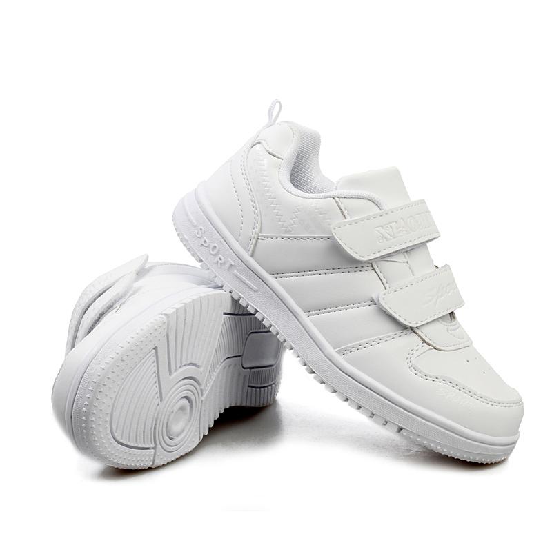 女生男童秋季白板波鞋小学生运动鞋吉他白色儿视频球鞋双图片