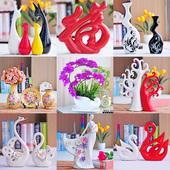 陶瓷工艺品客厅办公室装饰品 摆件 结婚礼物创意花瓶现代家居礼品