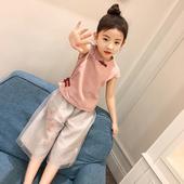 女童夏装2017新款套装夏季童装儿童短袖民族风女孩衣服宝宝两件套