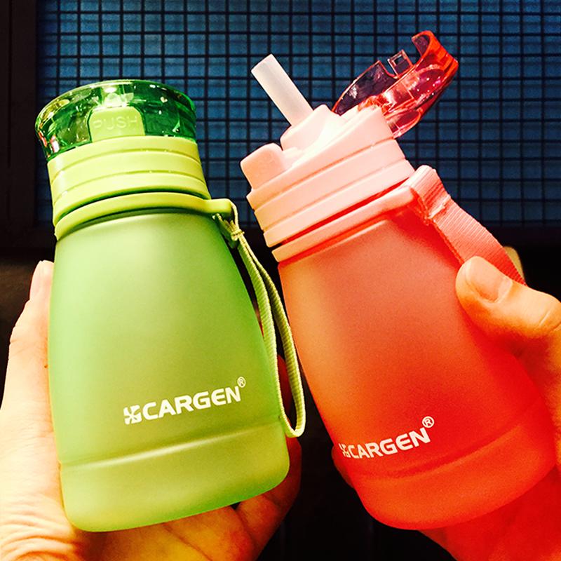 夏季儿童吸管杯女可爱宝宝塑料磨砂水瓶小孩学生随手水壶柠檬杯子