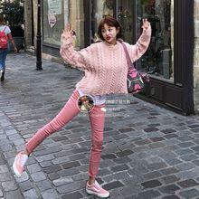官网正品 百分百 IM甜美邻家女孩粉色弹力牛仔裤 韩国代购 现货