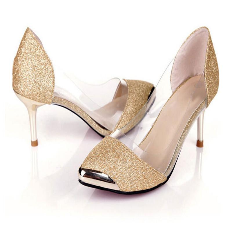 新款中跟细跟尖头浅口单鞋小码31 32 33大码40 41 42 43韩版女鞋
