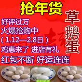 【五送一】5枚装新鲜鹅蛋包邮 农家散养鹅蛋孕妇去胎毒正宗草鹅蛋