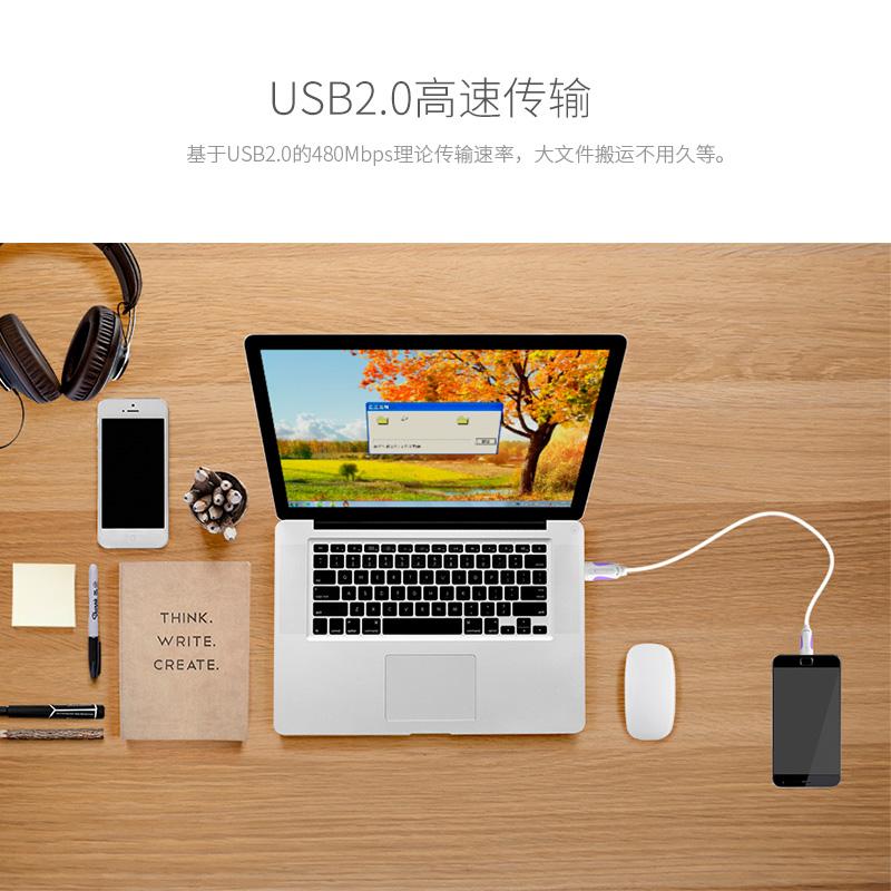 威迅安卓数据线加长usb充电器2a华为手机充电线宝短高速通用2 3米
