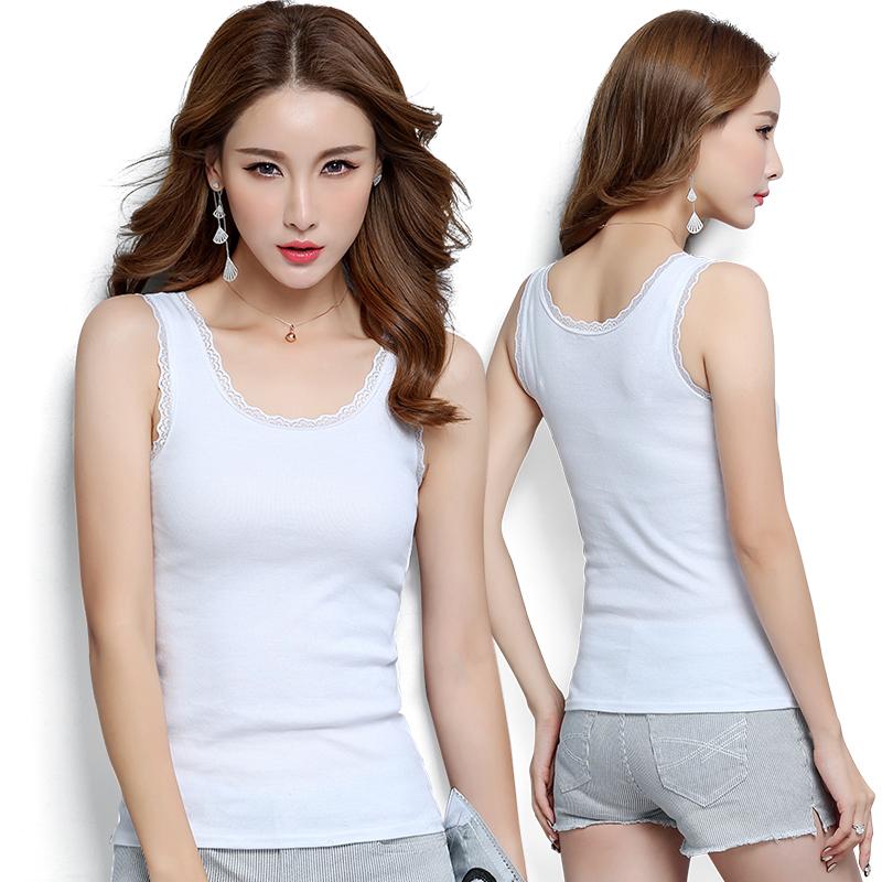 韩版性感蕾丝背心女百搭修身显瘦吊带背心外穿纯棉蕾丝花边打底衫