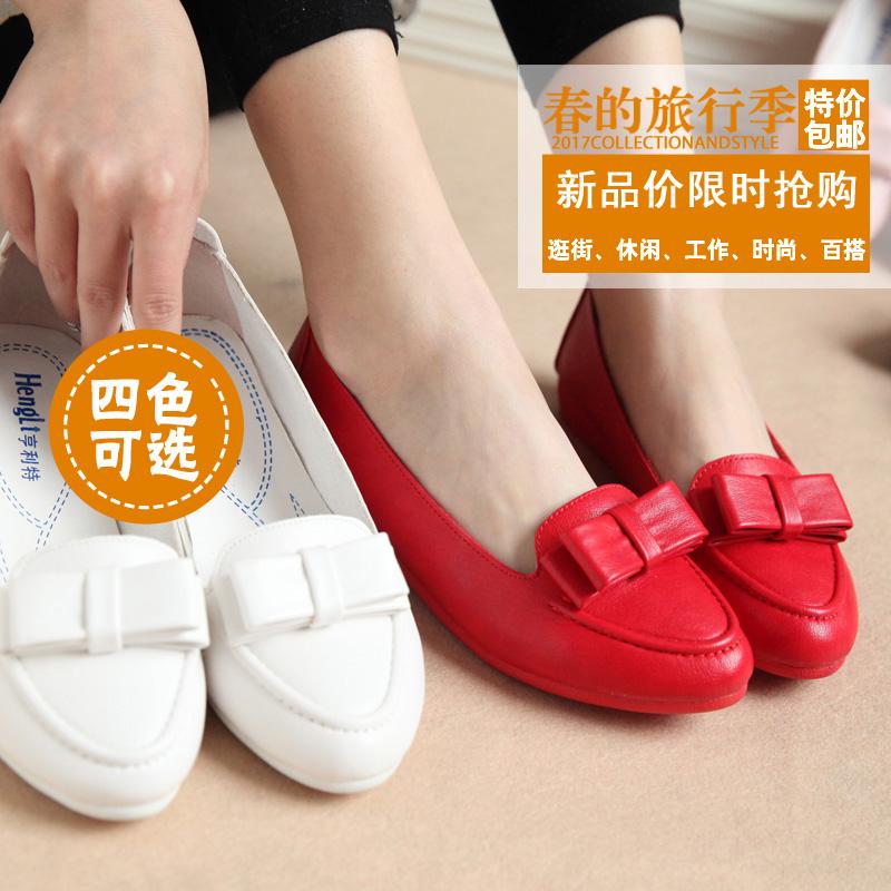 女百搭平底鞋鞋女夏圆头学生休闲鞋单鞋鞋子套脚软底浅口女鞋豆豆