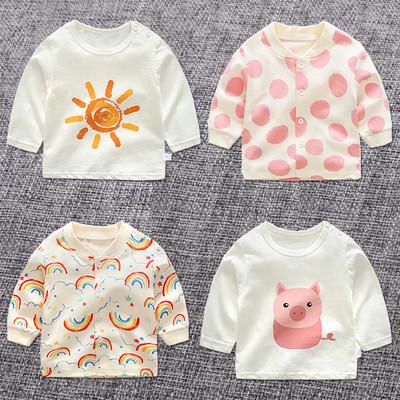 春秋女童宝宝打底衫2婴儿秋装纯棉3小童长袖t恤儿童秋季上衣1岁0