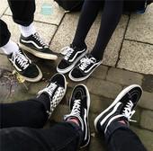 VANS SK8 Old Skool男鞋低帮女鞋 黑白帆布滑板鞋 VN-0D3HY28