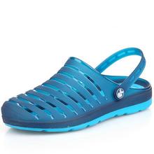 男士 韩版 包头塑胶凉鞋 洞洞鞋 夏凉鞋 沙滩鞋 男潮流个性 天天特价