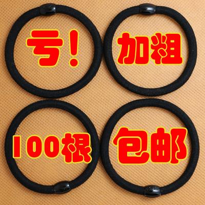韩国高弹力发圈无缝头绳发绳黑扎头发耐用橡皮筋简约头花发饰包邮