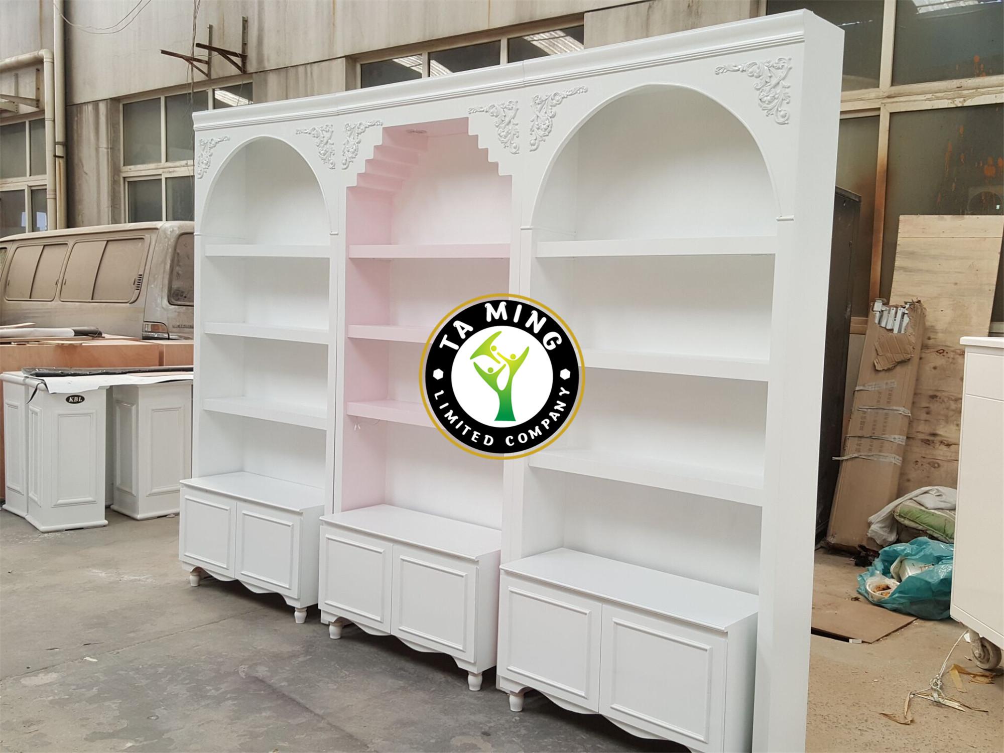 新款欧式烤漆化妆品美甲店展示柜美容院产品柜货架油
