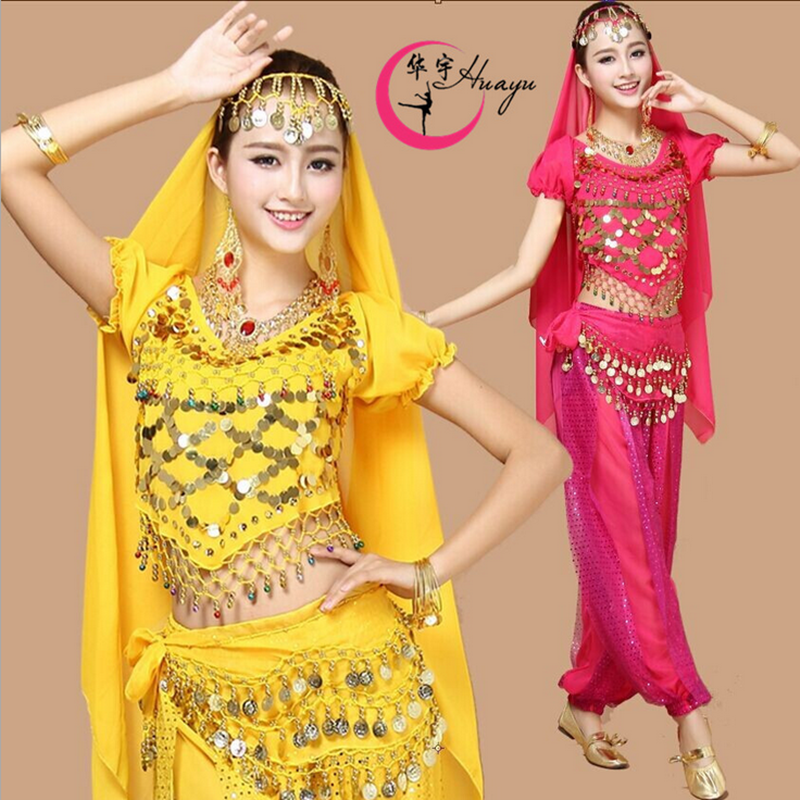 印度舞蹈服女**肚皮舞套装天竺少女演出服新疆表演服