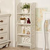 新款特价欧式室内木质花架 置物架 落地纯白色 花盆架镂空包邮