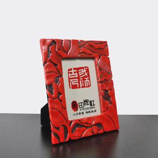 现代新中式中国红家居饰品摆件创意相框花影长方结婚礼品礼物特价